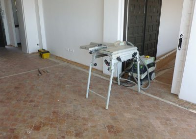 before parque flooring